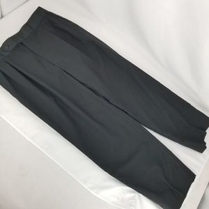 Burberrys Black Pleat Front Dress Pants Waist 34""